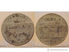 UNA 1 PESETA 1937 REPUBLICA ESPAÑOLA CONSEJO DE SANTANDER PALENCIA Y BURGOS GUERRA CIVIL