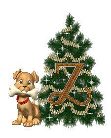 Alfabeto animado de arbolito navideño con perrito.   Oh my Alfabetos!