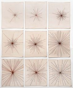 Louise Bourgeois, Polar Star, 2008 – series of 9 fabric works, 40 x 33 cm each.