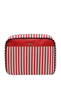 Revlon Weekender Travel Toilettree Hanging Cosmetic Case White And Red Striped Find Out