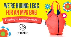 Keep an eye out for another Very Special MPG Egg!  Re-pin and click here to get the details! http://womanfreebies.com/featured/find-the-mpg-egg/?mpg