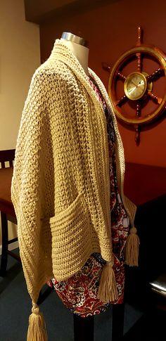 Ravelry: Friendship Pocket Wrap pattern by Merri Purdy