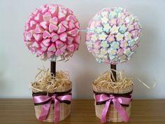 Árvores de Gomas para enfeitar uma mesa de aniversário, de baptizado, casamento. Prenda Maravilhosa.