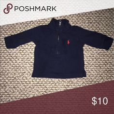Worn once! 3 month Ralph Lauren Polo Horse Halfzip Smoke-free home. 🚭 same day shipping! 📦 see all my other listings & positive feedback! 🎀 Have a great day! ❤️ Polo by Ralph Lauren Shirts & Tops