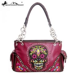 MW85-8085 Montana West MW85-8085 Western Sugar Skull Collection Handbag