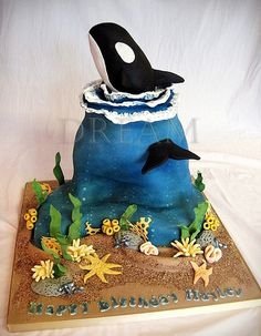 Orca Cake | www.facebook.com/pages/Dream-Cakes-by-Robyn/7954… | Flickr