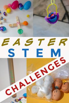 Awesome Easter STEM Challenges – Science Sparks Easy Easter STEM Challenges for kids – drop an egg down an egg chute, make a catapult for an egg, make an eggy zip wire and lots more EASTER STEM for kids Easy Easter Crafts, Crafts For Kids, Easter Ideas, Stem Science, Science Experiments Kids, Chemistry For Kids, Stem Learning, Stem For Kids, Stem Challenges