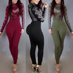 Women Fashion Printed Slinky Jumpsuit