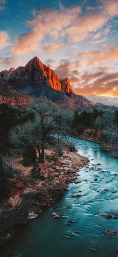 Beautiful picture of the Zion National Park in Utah