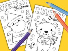 download here  Howdy everyone! Whoopie - FREE printable Christmas cards yay! I've created two colour-in cards you can download right here ...