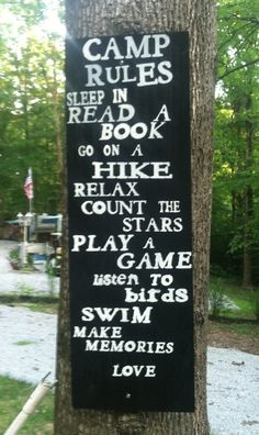 Outdoor camp sign made for our camp site
