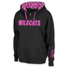 Women's Kansas State Wildcats College Full Zip Pop Hoodie