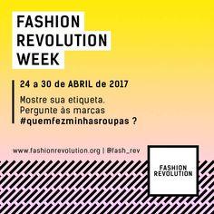 #fashionrevolution #quemfezminhasroupas  #whomademyclothes #fashionrevolutionbrasil  #sustainablefashion #sustentabilidade #modasustentavel #modaetica #modaconsciente #moda http://fashionrevolution.org/country/brazil/