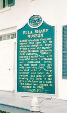 Ella Sharp historic marker