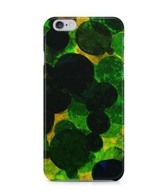 Dark and Light Round Green with Yellow Background 3D Iphone Case for Iphone 3G/4/4g/4s/5/5s/6/6s/6s Plus - ARTXTR0011 - FavCases