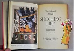 SHOCKING-LIFE-Elsa-Schiaparelli-1954-1st-Ed-incl-Rare-PUBLISHER-039-s-BOOKMARK