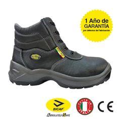 TuF - Calzado de protección de Piel para hombre, color Negro, talla 38