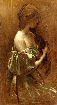Portrait of a Woman in an Off-the-Shoulder Gown  ARTIST:John White Alexander