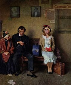 """Maudelynn's Menagerie — """"Hollywood Dreams'' by Norman Rockwell for..."""