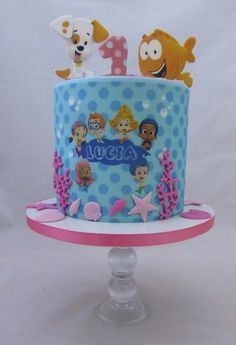 Bubble Guppies 1st Birthday Cake