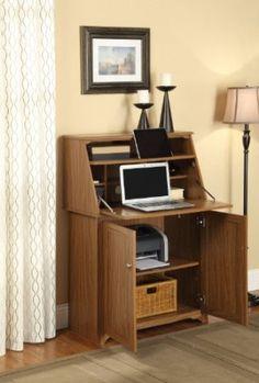Amazon.com: Harris Compact Secretary Desk / Short Armoire in Rustic Oak: Home & Kitchen