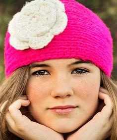 Look at this #zulilyfind! Pink Rosa Wool Head Warmer #zulilyfinds