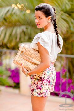 Floral Shorts Crimenes de la Moda