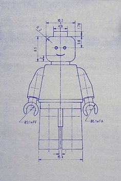 Lego patent blueprint art of a lego figure man person no10 lego blueprint super cute to do a series of toy blue prints in boys eoom malvernweather Choice Image