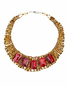 Panacea | Beaded Crystal-Collar Necklace | @ Neiman Marcus