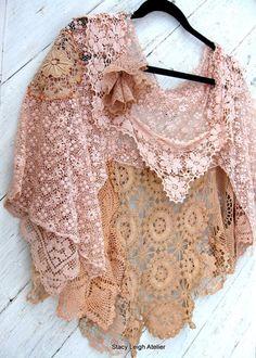 Beautiful antique lace shawl.
