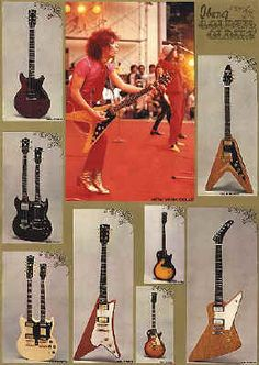 Old Ibanez Guitar ad from 1976 featuring The New York Dolls.