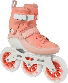 Pfirsich farbige Powerslide Inline Skates, Triskates, »Swell 125 Peach«