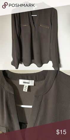 NWOT Olive / dark gray color tunic New tunic in beautiful olive/dark gray color.. Meraki Tops Tunics