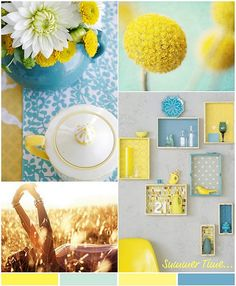 Yellow & blues = Summer