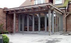 Image result for modern wooden garages flat roof