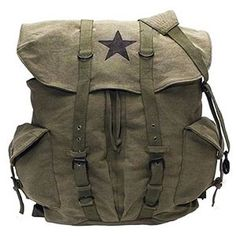Rothco Vintage Canvas Backpack with Star, amazon.com, $36.49 #backtoschool