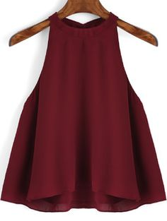 To find out about the Burgundy Loose Cami Top at SHEIN, part of our latest Tank Tops & Camis ready to shop online today! Loose Fitting Tank Tops, Loose Tops, Red Cami Tops, Casual Outfits, Fashion Outfits, Women's Fashion, Look Chic, Dress To Impress, Spring Outfits