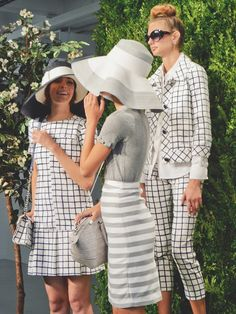 Kate Spade | Spring 2014  -cute dress, and I love the bow on the sleeve of the grey top
