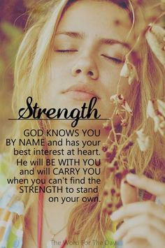 My strength is in You, Lord Jesus.