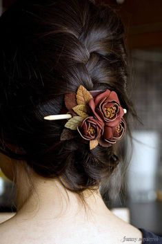 Chinese Style Handmade Wooden Hair Stick Pick Wood Flower Pin Hair Ornament