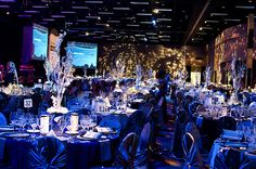 Table Set-Up from the 2011 Mayor's Gala Decor at TCU Place in Saskatoon
