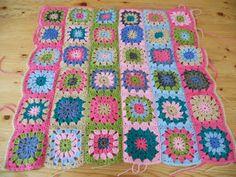 Small multi color blanket