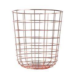 Menu 9000239 Draht-Papierkorb, Höhe 35 cm, Durchmesser 32 cm, kupfer: Amazon.de: Küche & Haushalt