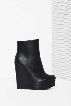 Shoe Cult Living on the Wedge Bootie   Shop You, Me and the Moon at Nasty Gal