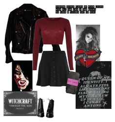 """""""Seventeen ~ Marina and the Diamonds/Teenagers ~ My Chemical Romance"""" by witchblood ❤ liked on Polyvore featuring Harley-Davidson, River Island and Betsey Johnson"""