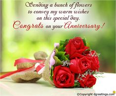 Make someone's anniversary memorable by sending a warm wish.