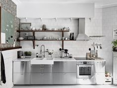 Inspiring Kitchens You Won't Believe are IKEA  cabinets from IKEA's GREVSTA line