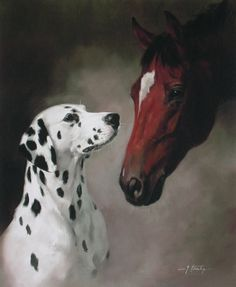 dalmatians and horses | Dalmatian and Carriage Horse Limited Edition Dog Print by Canine ...