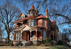 Turner-Ledbetter House C1891-92..This Queen Anne style house was one of the large,costly residences built during the late 1880s-early 1890s