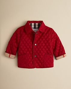 Burberry Infant Girls' Colin Quilted Jacket – Sizes 6-24 Months   Bloomingdale's